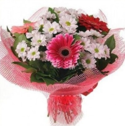 Gerbera ve kır çiçekleri buketi  Gümüşhane çiçek mağazası , çiçekçi adresleri