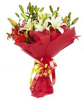 5 dal kazanlanka lilyum buketi  Gümüşhane çiçekçiler