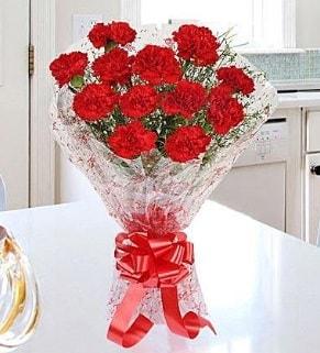 12 adet kırmızı karanfil buketi  Gümüşhane internetten çiçek satışı