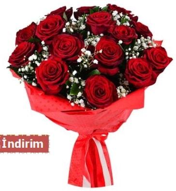 12 Adet kırmızı aşk gülleri  Gümüşhane cicek , cicekci