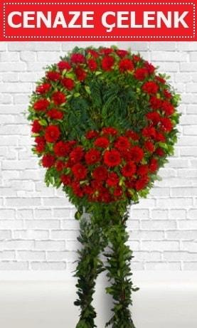 Kırmızı Çelenk Cenaze çiçeği  Gümüşhane internetten çiçek satışı
