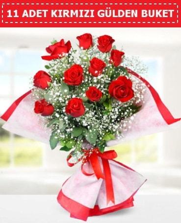 11 Adet Kırmızı Gül Buketi  Gümüşhane çiçek mağazası , çiçekçi adresleri