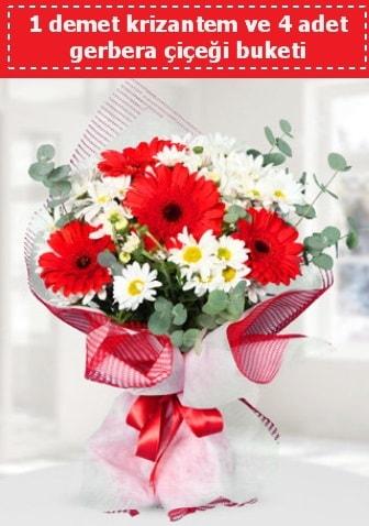 Krizantem ve Gerbera Buketi  Gümüşhane hediye sevgilime hediye çiçek