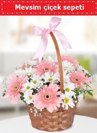 Mevsim kır çiçek sepeti  Gümüşhane cicekciler , cicek siparisi