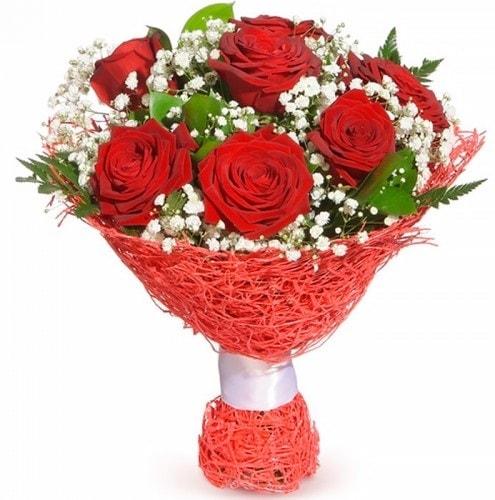 7 adet kırmızı gül buketi  Gümüşhane çiçek servisi , çiçekçi adresleri